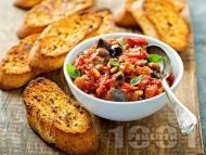 Капоната – италианска яхния / предястие с патладжан, каперси, маслини и кедрови ядки